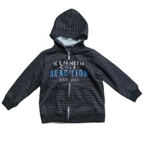 Kenneth Cole Reaction Black Striped Hoodie, 2T
